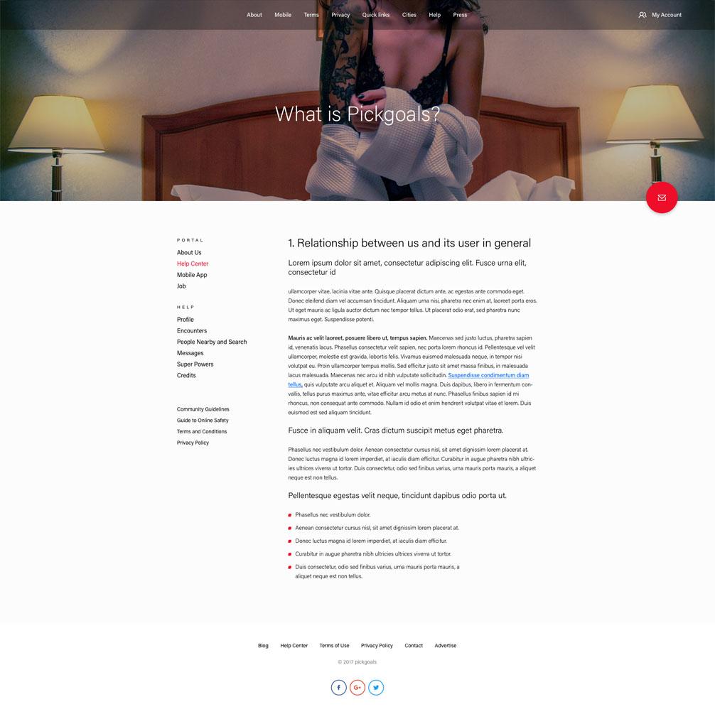 Projektant stron internetowych dla serwisów randkowych